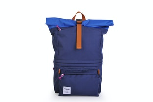 Hellolulu Poplar DSLR Camera Backpack - Navy