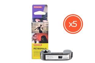 LomoChrome Metropolis - Mistaken Identity 110 ISO 100-400 - Lot de 5 pellicules
