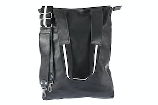 Lomofolio Bag Black with White Strap