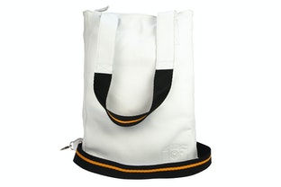White Lomofolio Bag with Orange Strap
