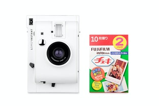 Lomo'Instant Camera (White Edition) + Fujifilm Instax Film Double Pack Bundle