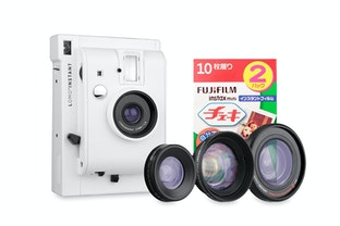 Lomo'Instant Camera and Lenses (White Edition) + Fujifilm Instax Film Double Pack Bundle