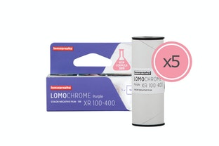 New Lomography LomoChrome Purple 120 Pack de 5