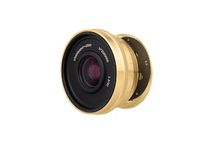 Lomogon 2.5/32 Art Lens Brass - Canon EF Mount - Low Serial Number